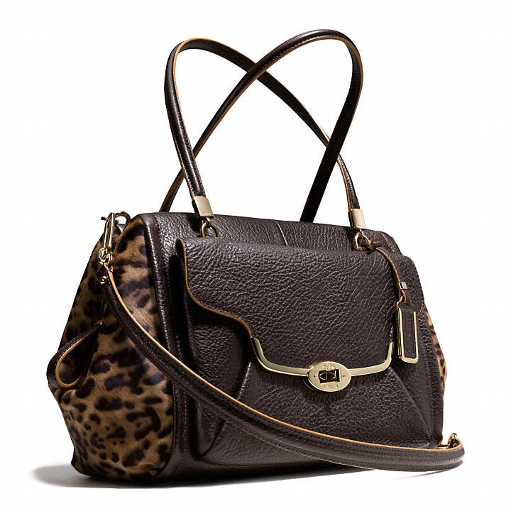 Coach Madison Madeline East/West Satchel In Mixed Haircalf