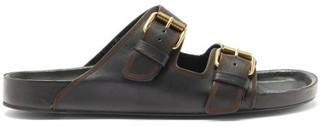 Isabel Marant Lennyo Leather Slides - Black
