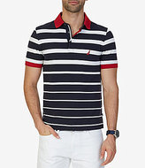 Nautica Classic-Fit Striped Short-Sleeve Polo Shirt
