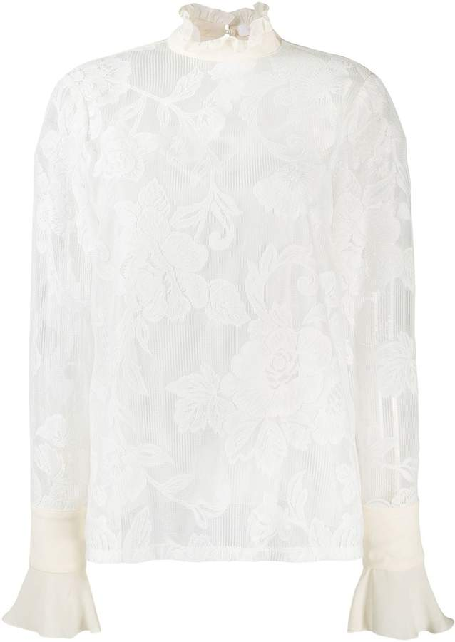 See by Chloe floral lace blouse