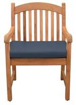 Highland Dunes Pulver Teak Patio Dining Chair with Cushion Highland Dunes Cushion Color: Spectrum Indigo