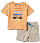 Nautica Baby Boys 12-24 Months Short-Sleeve Graphic Tee & Solid Shorts Set