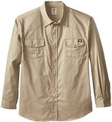Dickies Men's Relaxed Fit Long-Sleeve Western Twill Shirt