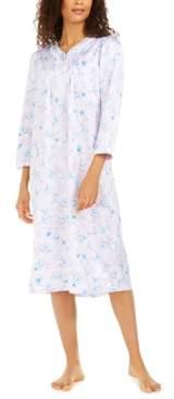 Miss Elaine Petite Women's Brushed Back Satin V-Neck Nightgown