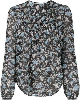 Veronica Beard Lowell floral-print blouse