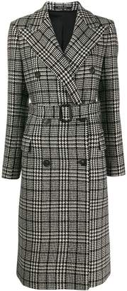 Tagliatore Glen check coat