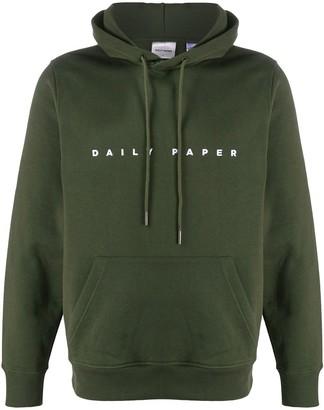 Daily Paper Logo Print Hooded Sweatshirt