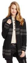 BCBGMAXAZRIA Women's Shadia Textured Jacquard Sweater Coat