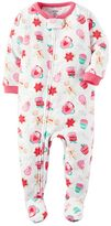 Carter's Baby Girl Print Fleece Footed Pajamas