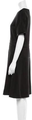 3.1 Phillip Lim Crew Neck Knee-Length Dress w/ Tags Black