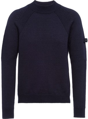 Prada Raglan Sleeves Crew Neck Jumper