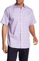Thomas Dean Gingham Short Sleeve Regular Fit Shirt