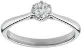 Enchanted 9ct White Gold 0.25ct Diamond Solitaire Ring