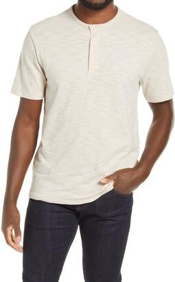 Vince Pinstripe Men's Henley T-Shirt