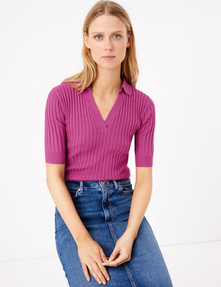 Marks and Spencer Textured Knitted Top