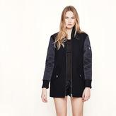 Maje Mixed material bomber-style coat