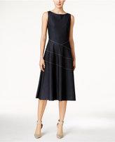 Calvin Klein Denim Fit & Flare Midi Dress