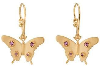 Eye M Women's Butterfly Drop Earrings - Gold