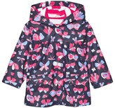 Hatley Navy Butterflies Print Fleece Lined Raincoat