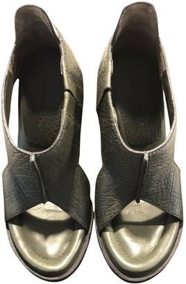 Alexander Wang Green Leather Sandals