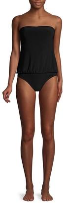 Norma Kamali Strapless Babydoll One-Piece Swimsuit