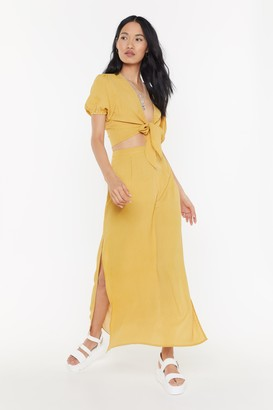 Nasty Gal Womens Step Out Of Line Striped Top And Skirt Set - Yellow - 14, Yellow