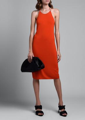 Bottega Veneta Halter-Neck Viscose Dress With Low T-Knot Back