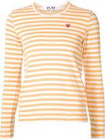 Comme des Garcons mini heart striped T-shirt - women - Cotton - XS