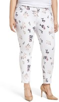 Lucky Brand Plus Size Women's Ginger Floral Print Skinny Jeans