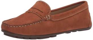 Driver Club Usa Driver Club USA Women's Genuine Leather Unique Penny Detail Driving Loafer