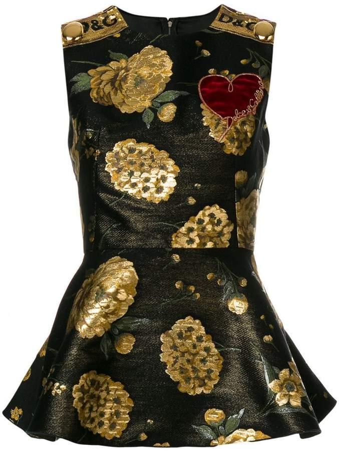 Dolce & Gabbana brocade peplum top