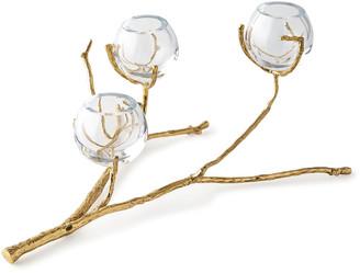 Global Views Twig Brass Three-Vase Holder