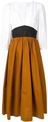 Isa Arfen contrast flared dress