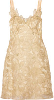 Marchesa Metallic embroidered organza dress