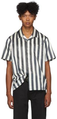 Visvim Black and Off-White Free Edge Shirt