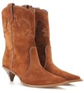 Miu Miu Suede Cowboy Boots