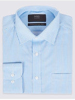 M&S Collection Cotton Rich Easy to Iron Regular Fit Shirt