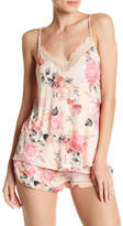 PJ Salvage Rosy Outlook Lace Racerback Tank Top