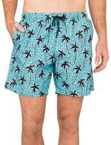 Boardies Apparel Mid Length Swim Short Palm Tree