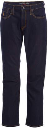 U.S. Polo Assn. Men's Casual Pants BLUE - Blue Stretch Slim-Fit Straight-Leg Jeans - Men