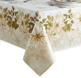White Poinsettia Tablecloth