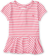 Ralph Lauren Striped Jersey Peplum Tee
