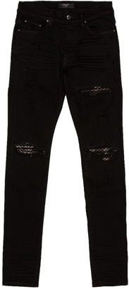 Amiri Quilted Leather Jean Animation in Black | FWRD