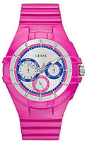 GUESS Multifunction Silicone-Strap Sport Watch
