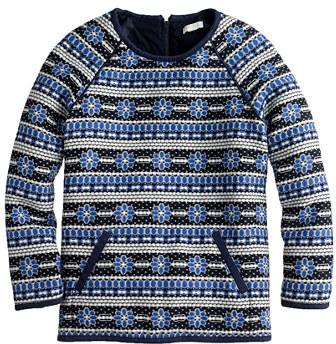 J.Crew Popover sweatshirt in floral jacquard