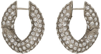 Balenciaga Silver Crystal Loop Earrings