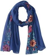 Bindya Floral Embroidered Scarf Scarves