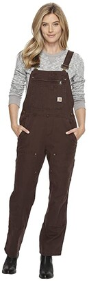 Carhartt Crawford Double Front Bib Overalls (Dark Brown) Women's Clothing