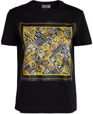 Versace Jeans Couture Scarf Print Logo T-Shirt
