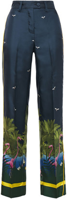 F.R.S For Restless Sleepers Zelos Printed Silk-twill Straight-leg Pants